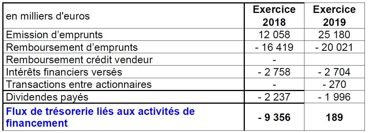 Flux de trésorerie_financement 2019